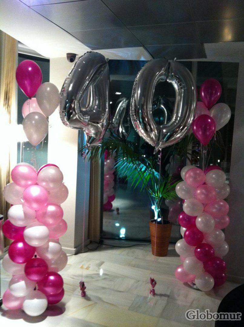 Decoraci n con globos en murcia globomur for Decoracion anos 20